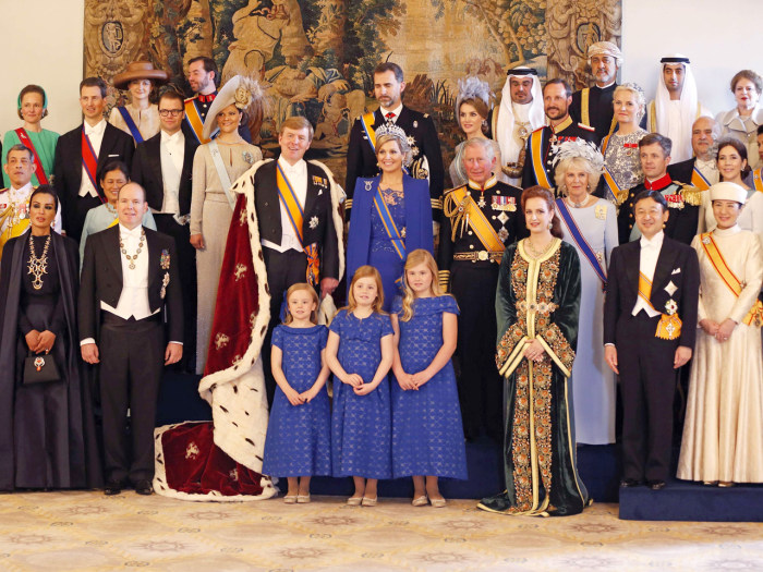 King Willem-Alexander his wife Queen Maxima accompanied by their daughters Crown Princess Catharina-Amalia, Princess Ariane, Princess Alexia and guest...