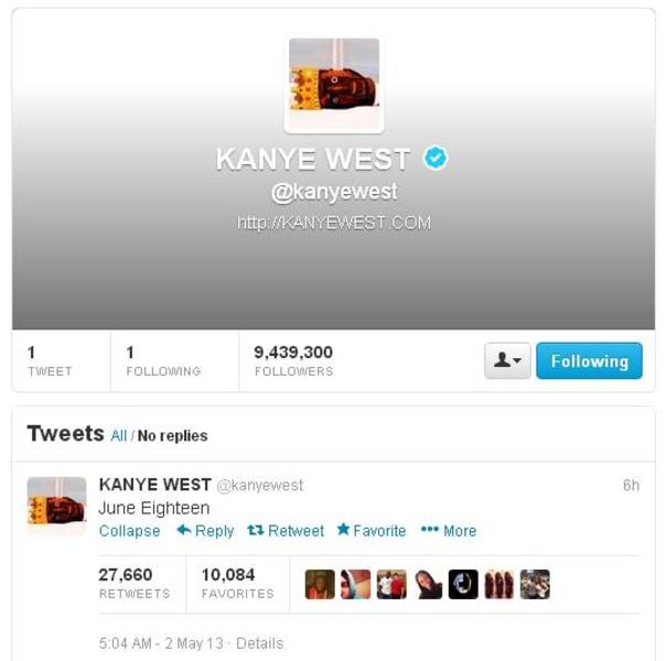 Image: Kanye West tweet