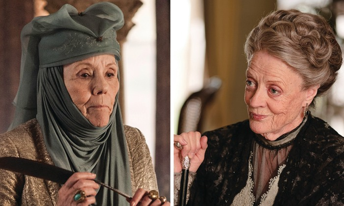 Image: Lady Olenna Tyrell and Dowager Countess