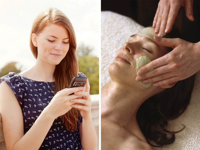 Sore from texting and typing too much? Spas are now catering to aches and pains caused from too much tech.