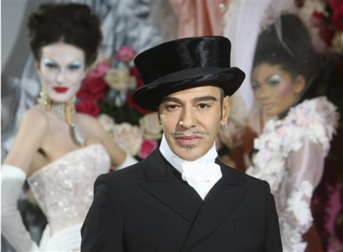Former Dior designer John Galliano, shown here on Jan. 25, 2010, will no longer teach a class at Parsons The New School for Design.