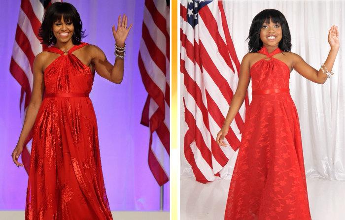 Michelle Obama and her mini-me.