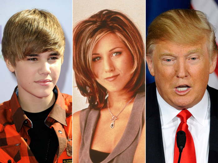 IMAGE: Bieber, Aniston, Trump