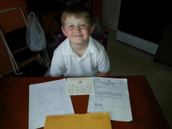 Milwaukee second-grader Myles Nelson, 7, got a rare thrill when he received a handwritten letter he received from Vice President Joe Biden along with a reply from Rep. Gwen Moore for his own letter talking about his idea of using chocolate bullets instead of real ones.