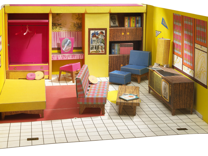 The Barbie Dreamhouse Experience features life-sized versions of Barbie's fictional home, all splashed with bright Barbie colors.