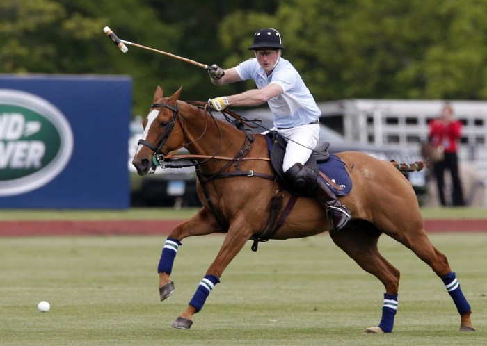 Prince Harry concluded his US tour with a game of polo at the Greenwich Polo Club in Greenwich, Conn.on May 15, 2013.