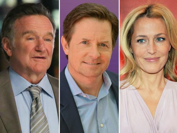 IMAGE: Robin Williams, Michael J. Fox, Gillian Anderson