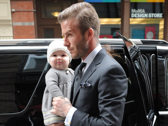 David Beckham looks so sweet with his daughter, Harper, in New York City.