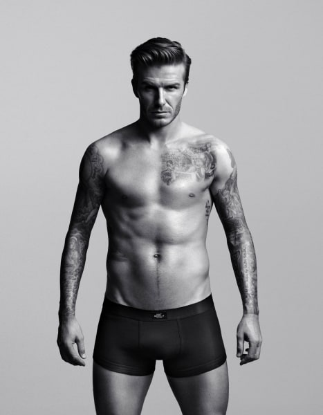 David Beckham models for H&M — using his real body.