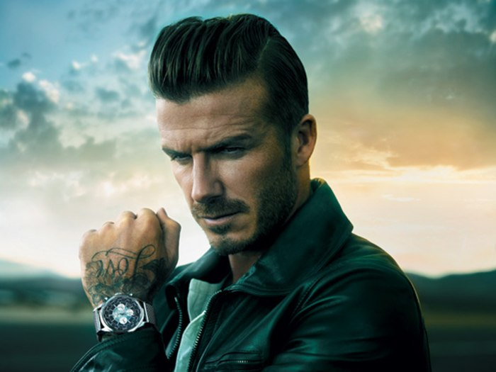 Beckham poses for a watch ad — and maybe fights crime.