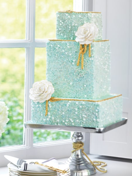 A tasty beauty: This seafoam-glitter cake won the most TODAY.com votes.