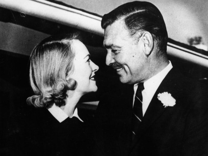Screen star Clark Gable with his wife, Lady Sylvia Ashley.