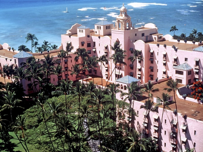 The Royal Hawaiian Hotel in Honolulu.