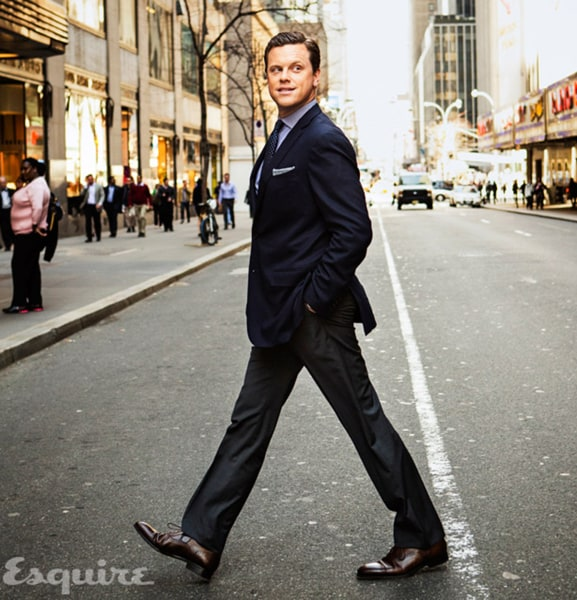 Willie Geist looks stylish in a blue suit and talks about the role of blazers in his life in the June/July issue of Esquire.