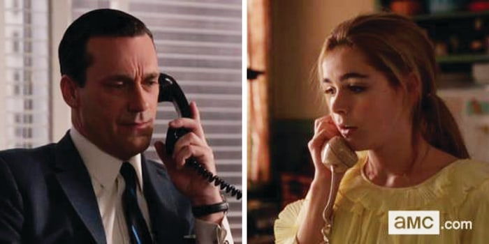Image: Sally and Don Draper on 'Mad Men""