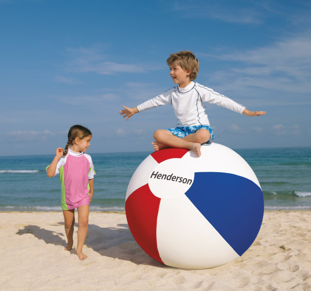 Smaller beach ball.