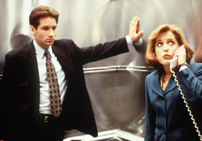 "Gillian Anderson and David Duchovny of the hit series, ""X-Files."""