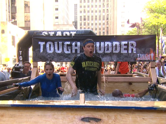 "The Tough Mudder promises ""the worst ice cream headache you've ever had"" after plunging into its ice bath obstacle. Willie is living proof of that here. It also happened to be 91 degrees outside while this was happening."
