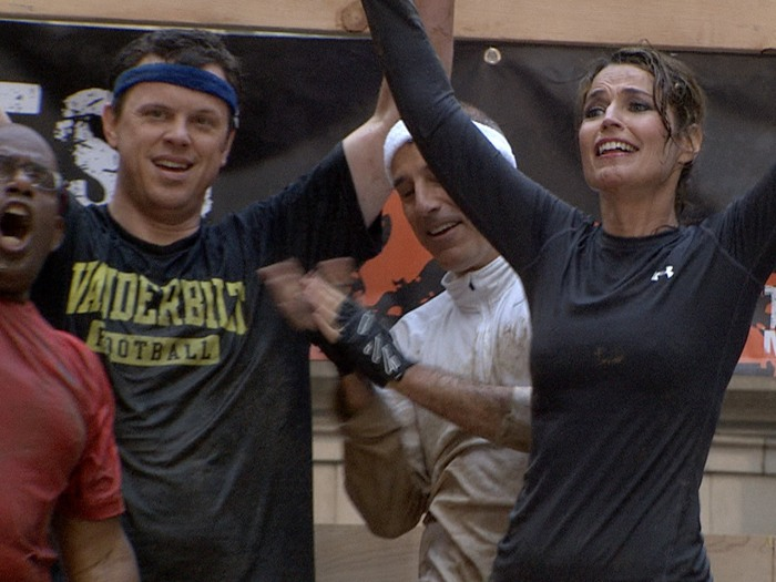 Willie, Savannah, Al and Matt savor the exhilaration that only true Tough Mudders can feel.