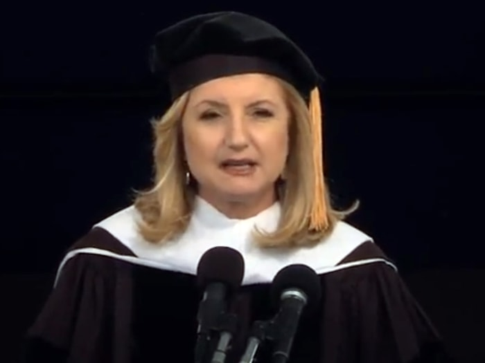 Arianna Huffington, editor-in-chief of the Pulitzer Prize-winning online news website that bears her name, was the speaker at Smith College's 135th co...