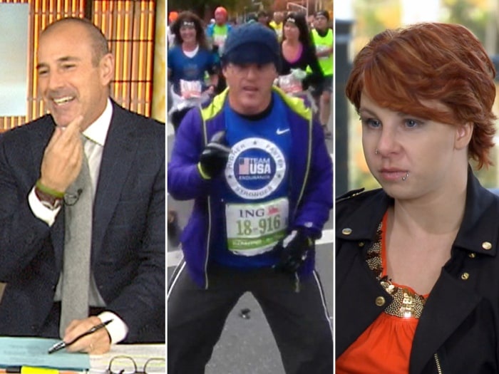 Matt starts No-Shave November with stubble, Jimmy Jenson crosses the NYC marathon finish line and Cleveland kidnapping victim Michelle Knight speaks out.