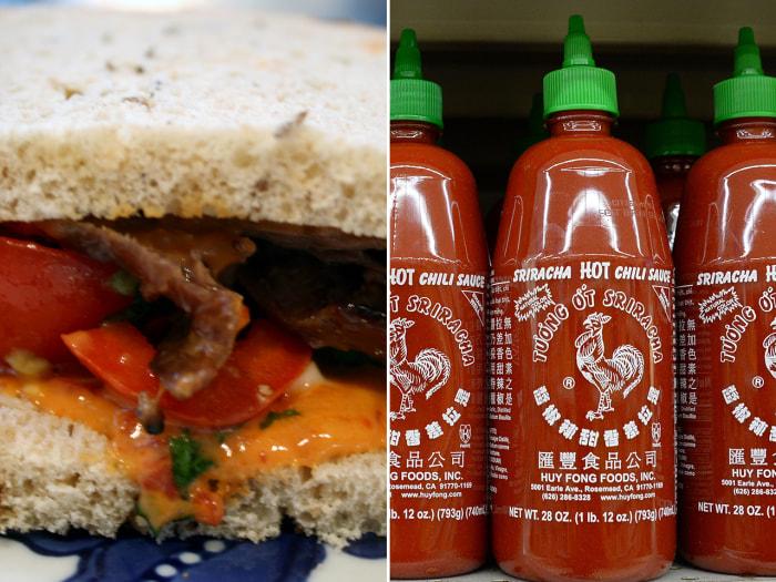 Sriracha mayo sandwich