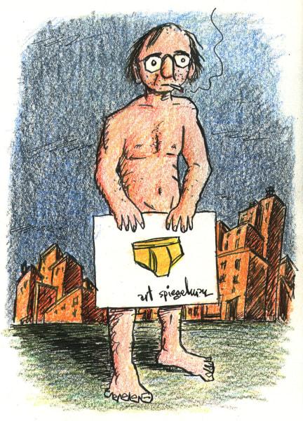 Art Spiegelman self-portrait