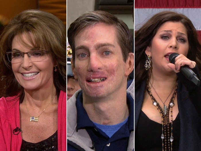Sarah Palin criticizes Obamacare, Marine corporal Aaron Mankin recovers and Lady Antebellum performs for veterans.