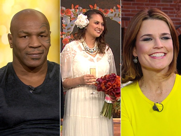 Mike Tyson credits therapy, Shanel Manzano gets married at 9:10 on 11-12-13 and Savannah shares her inspiration.
