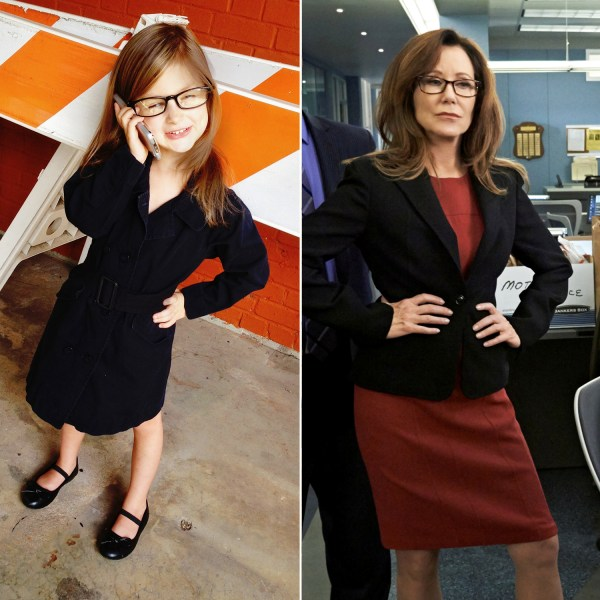 Savannah dressed as Sharon Raydor from 'The Closer.'