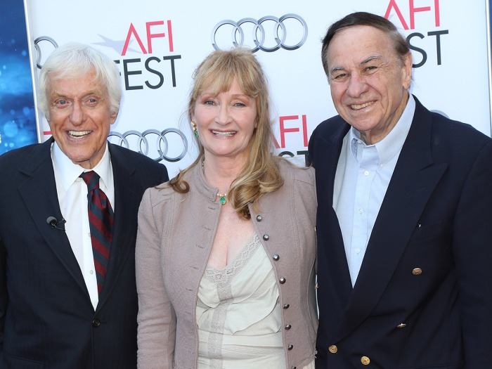 HOLLYWOOD, CA - NOVEMBER 09:  (L-R) Actors Dick Van Dyke and Karen Dotrice and songwriter Richard M. Sherman attend the AFI FEST 2013 presented by Aud...