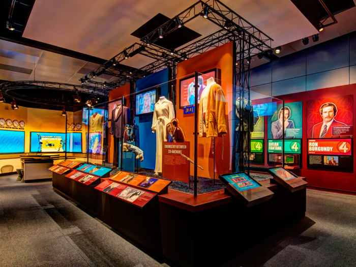 "The ""Anchorman"" exhibit at the Newseum in Washington, D.C."