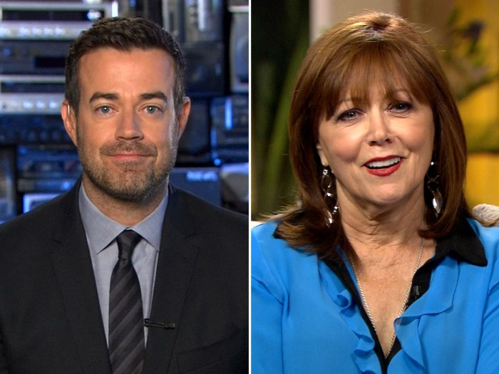 Carson Daly and his mom, Pattie Daly Caruso.