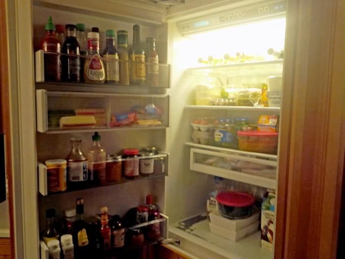 Kathie Lee Gifford's fridge.