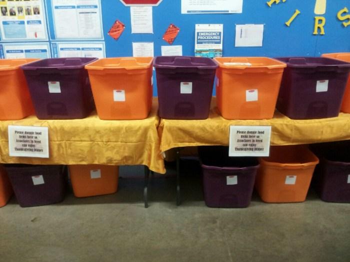 Food drive bins
