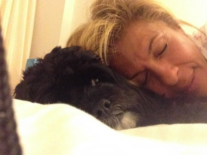 Hoda and her dog, Blake.
