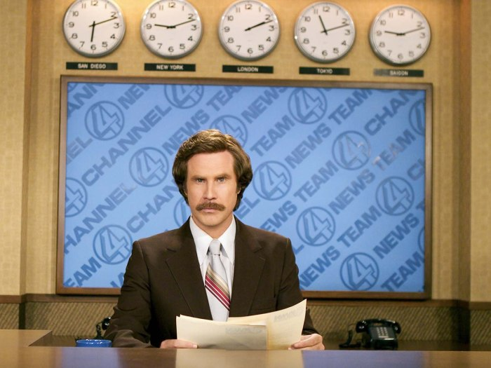 "FILE - This 2004 file photo originally released by Paramount Pictures shows Will Ferrell as anchorman Ron Burgundy in ""Anchorman: The Legend of Ron Bu..."