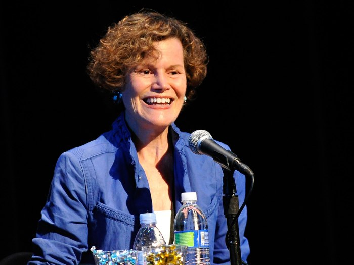 Author Judy Blume speaks at the 17th Annual Los Angeles Times Festival Of Books - Day 1 at USC on April 21, 2012 in Los Angeles, California.