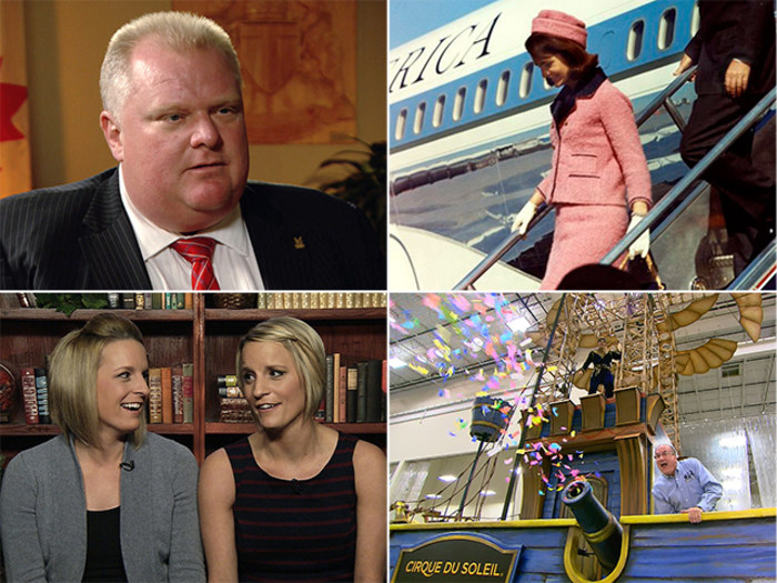 "Rob Ford admits he's ""not perfect,"" Jackie Kennedy's pink suit is remembered, twin sisters are cancer-free and Macy's Thanksgiving floats are revealed."