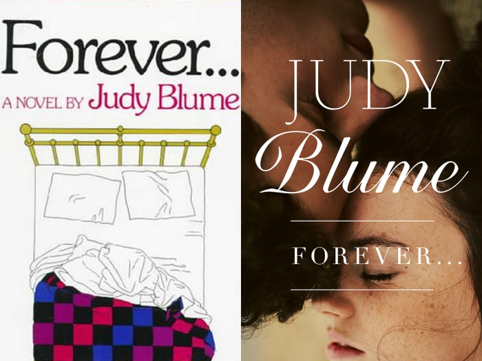 """Image: Old and new book covers for """"Forever"""" by Judy Blume"""