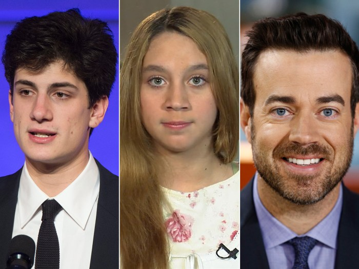 JFK's grandson takes center stage, Katelyn Roman feels she was not a bully and Carson shows off is No-Shave efforts.