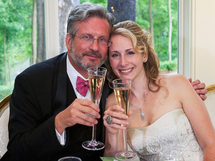 Image: Dr. William and Christine Petit at a reception in Simsbury, Conn., after their wedding in West Hartford, Conn., on Aug. 5, 2012.