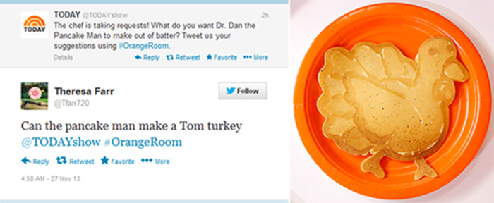 Dan the Pancake Man made a Tom Turkey.