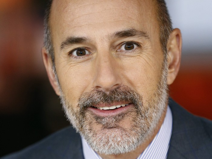 Image: Matt Lauer with a beard