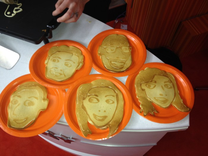 Yum! Look at all the anchors as pancakes!