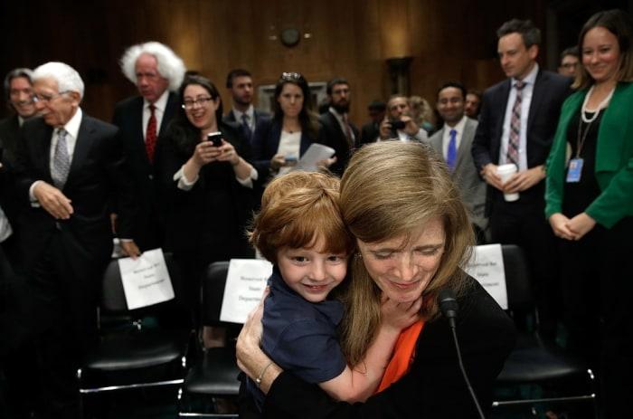 Image: Samantha Power with her son, Declan Power Sunstein, age 4