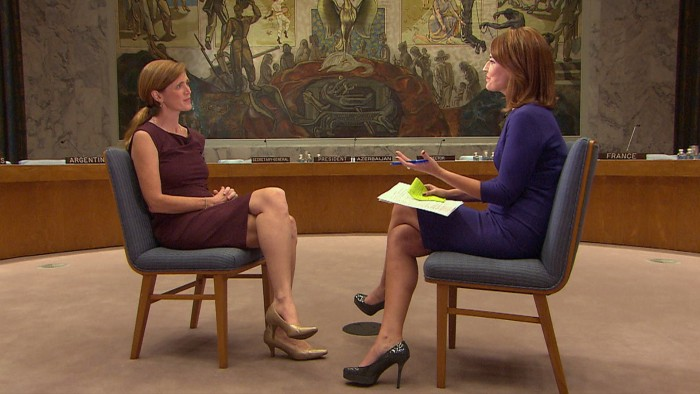 Samantha Power, U.S. Ambassador to the United Nations, in her exclusive interview with Savannah Guthrie.