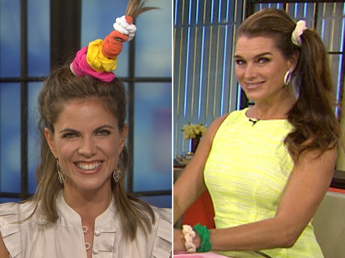 Live it up, ladies: TODAY's Natalie Morales and Brooke Shields get in on the trend.