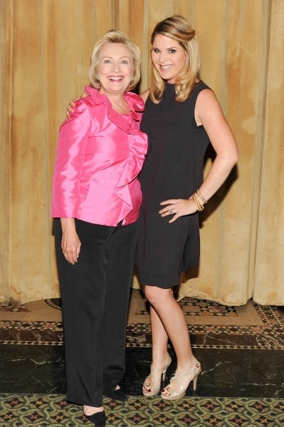 Hillary Rodham Clinton, Jenna Bush Hager