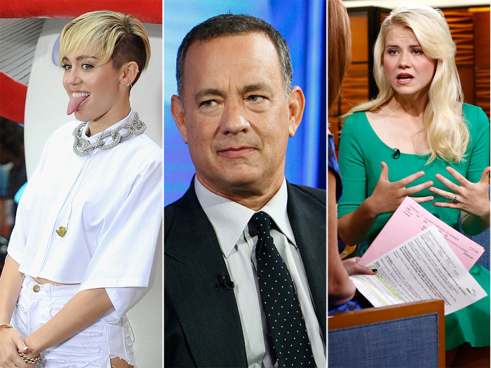 "Singer Miley Cyrus, ""Captain Phillips""star Tom Hanks and author Elizabeth Smart on TODAY."